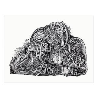 Guerreiro psicótico, por Brian Benson, cartão