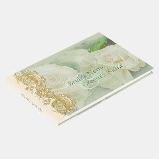 Guestbook elegante do casamento do rolo - verde 2 livro de visitas