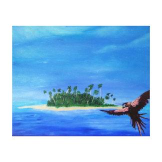 Guia ao paraíso impressão de canvas envolvidas