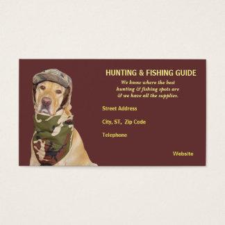 Guia customizável da caça/pesca cartão de visitas