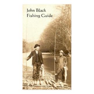 Guia da pesca cartão de visita