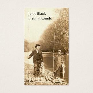 Guia da pesca cartão de visitas