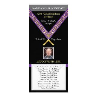 Guia de programas da maçonaria - modelo de 10.16 x 22.86cm panfleto