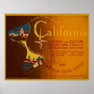 Guie ao poster 1940 de Califórnia WPA Vinatge