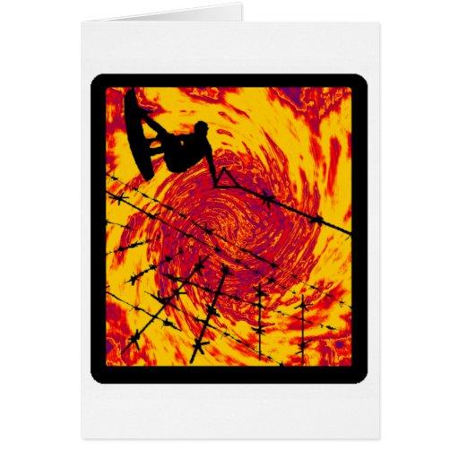 Guincho de Wakeboard girado Cartão