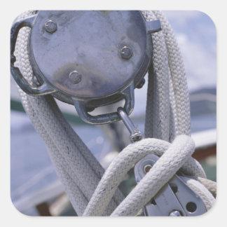 Guincho no barco adesivo quadrado