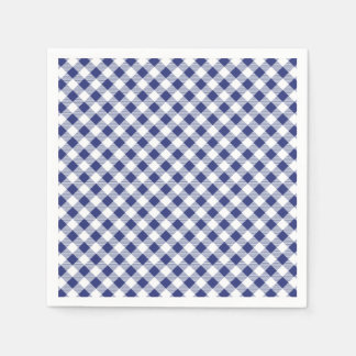 Guingão azul guardanapo de papel