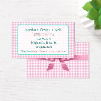 Guingão cor-de-rosa bonito & cartão de visita do