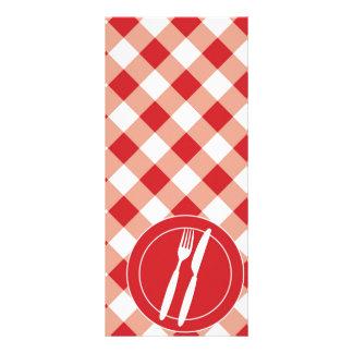 Guingão & cutelaria vermelhos 10.16 x 22.86cm panfleto