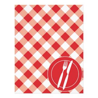 Guingão & cutelaria vermelhos panfletos coloridos