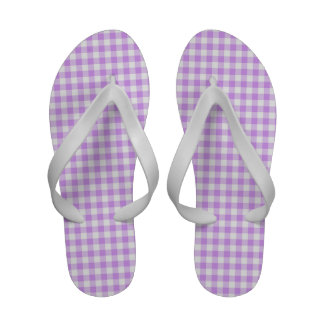 Guingão roxo e branco malva bonito sandalia de praia
