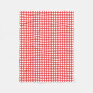 Guingão vermelho cobertor de lã