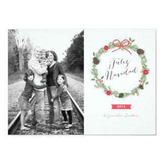 Guirnalda de Navidad Tarjeta de Navidad Convite 12.7 X 17.78cm