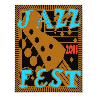 Guitarra 2011 do Fest do jazz Convite 10.79 X 13.97cm