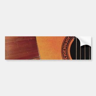 Guitarra acústica adesivo para carro