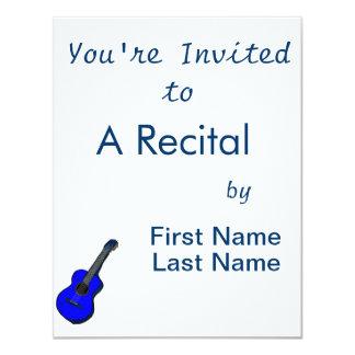 guitarra acústica blue.png simples gráfico convites personalizados