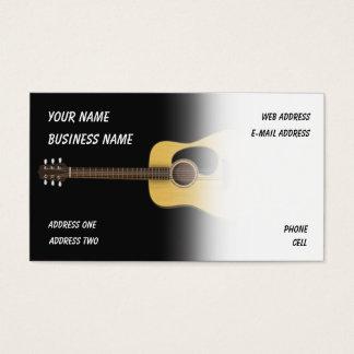 Guitarra acústica - cartão de indústria musical