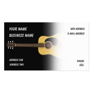 Guitarra acústica - cartão de indústria musical cartão de visita