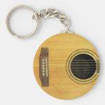 Guitarra acústica chaveiros