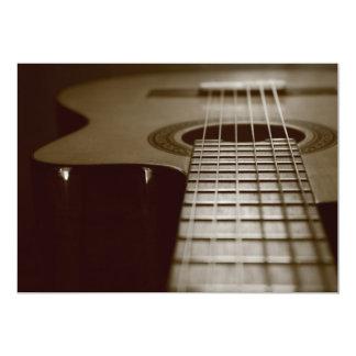 Guitarra acústica convite 12.7 x 17.78cm