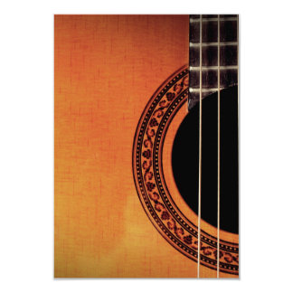 Guitarra acústica convite 8.89 x 12.7cm