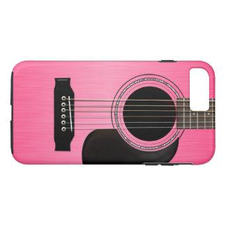 Guitarra acústica cor-de-rosa capa iPhone 7 plus