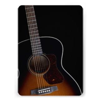 Guitarra acústica de inclinação convite personalizados