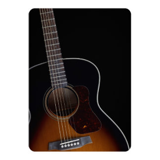 Guitarra acústica de inclinação convite 12.7 x 17.78cm