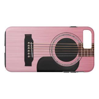 Guitarra acústica do rosa do rosa capa iPhone 7 plus