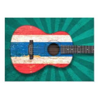 Guitarra acústica envelhecida e vestida da convites personalizados