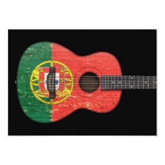 Guitarra acústica envelhecida e vestida da convite personalizados
