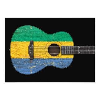 Guitarra acústica envelhecida e vestida da convite personalizado