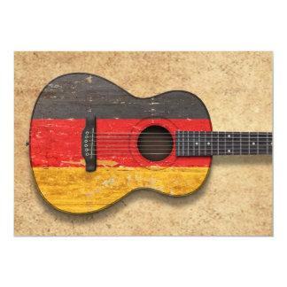 Guitarra acústica envelhecida e vestida da convites personalizado