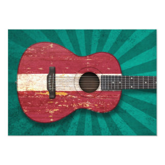 Guitarra acústica envelhecida e vestida da convites