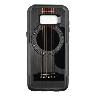 Guitarra acústica preta da cinza capa OtterBox commuter para samsung galaxy s8+
