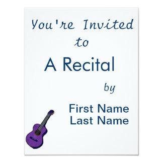 guitarra acústica purple.png simples gráfico convite personalizado