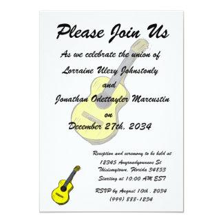 guitarra acústica yellow.png simples gráfico convites personalizado
