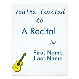 guitarra acústica yellow.png simples gráfico convite 10.79 x 13.97cm