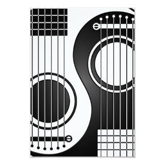 Guitarra acústicas brancas e pretas Yin Yang Convite 8.89 X 12.7cm