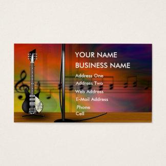 Guitarra - cartão de indústria musical