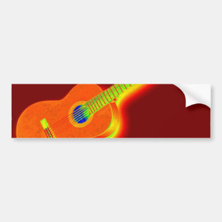 Guitarra clássica do pop art adesivo para carro