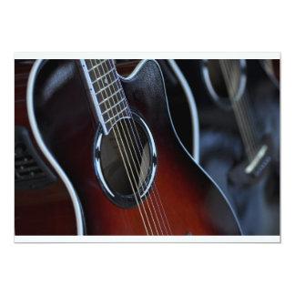 guitarra convite 12.7 x 17.78cm