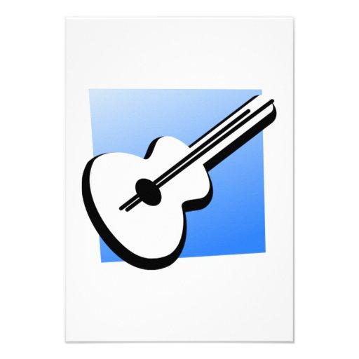 Guitarra Convites Personalizado