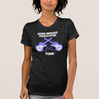Guitarra cruzadas azul camiseta