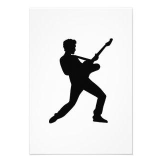 Guitarra da estrela do rock convites