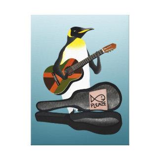 Guitarra da reggae do rei pinguim