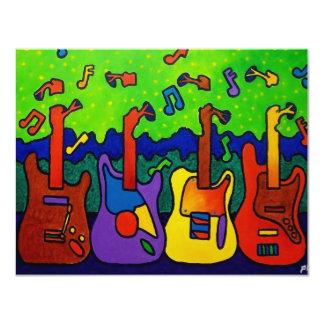 Guitarra das naturezas por Piliero Convite 10.79 X 13.97cm