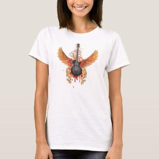 Guitarra do Grunge com asas Camiseta