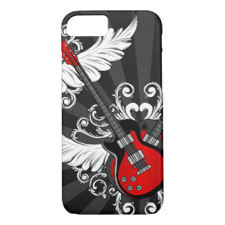 Guitarra do rock and roll capa iPhone 7