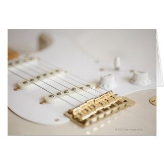 Guitarra elétrica 11 cartão comemorativo